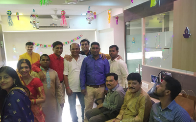 Netrika Team on Diwali Celebration